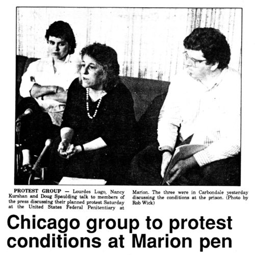 News clipping with photo of 3 CEML members on a couch