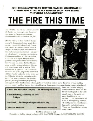 "Front page of ""The Fire This Time"""
